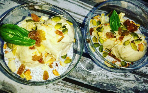 Lody sezamowe z chia